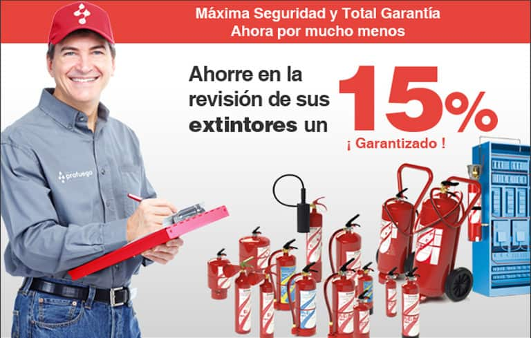 promoción revision extintores