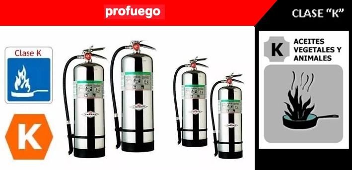 extintores tipo k clase k profuego