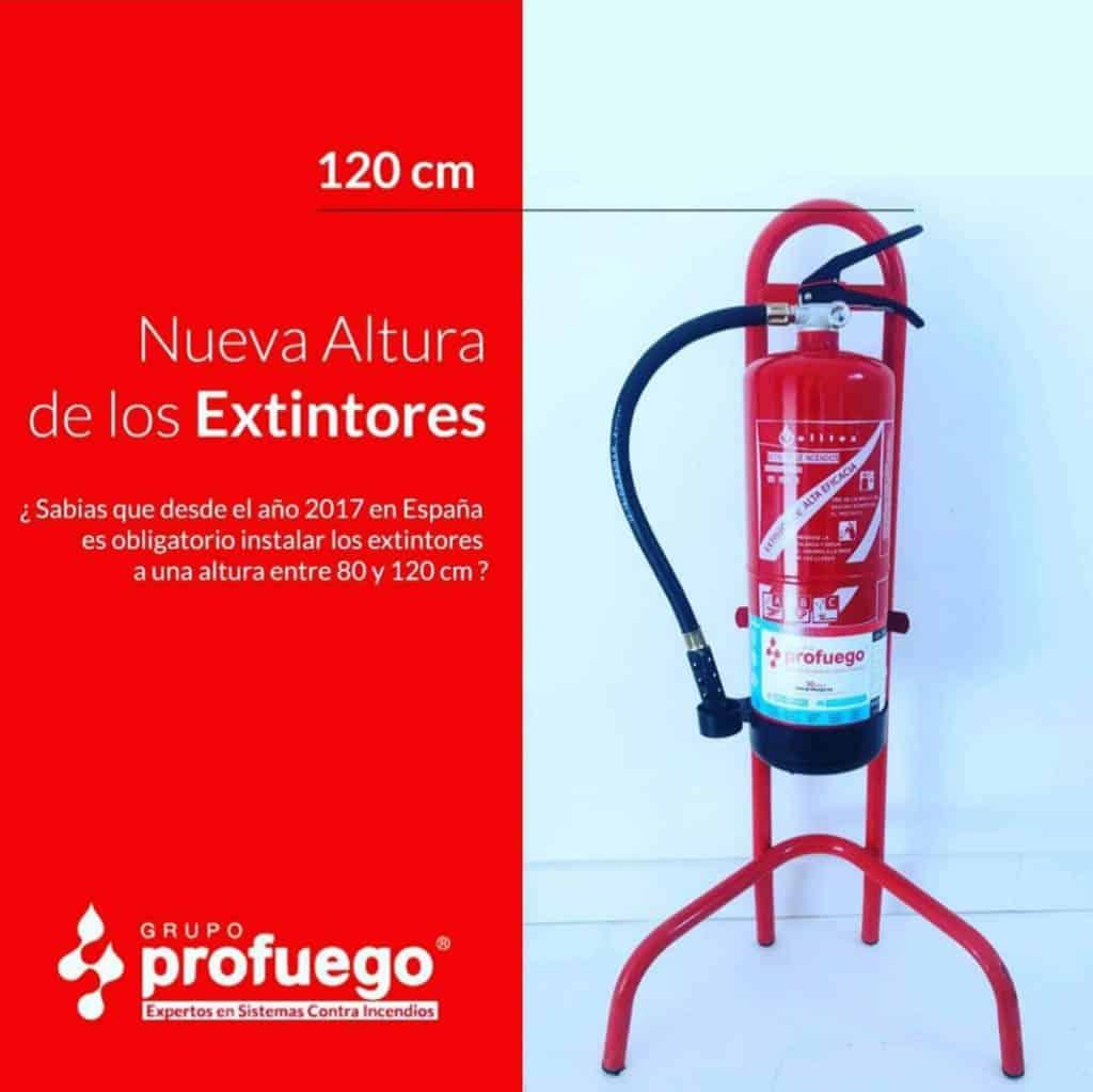 altura extintores