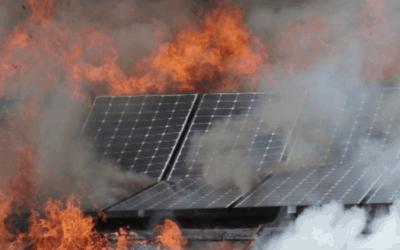 Protección contra incendios en placas solares